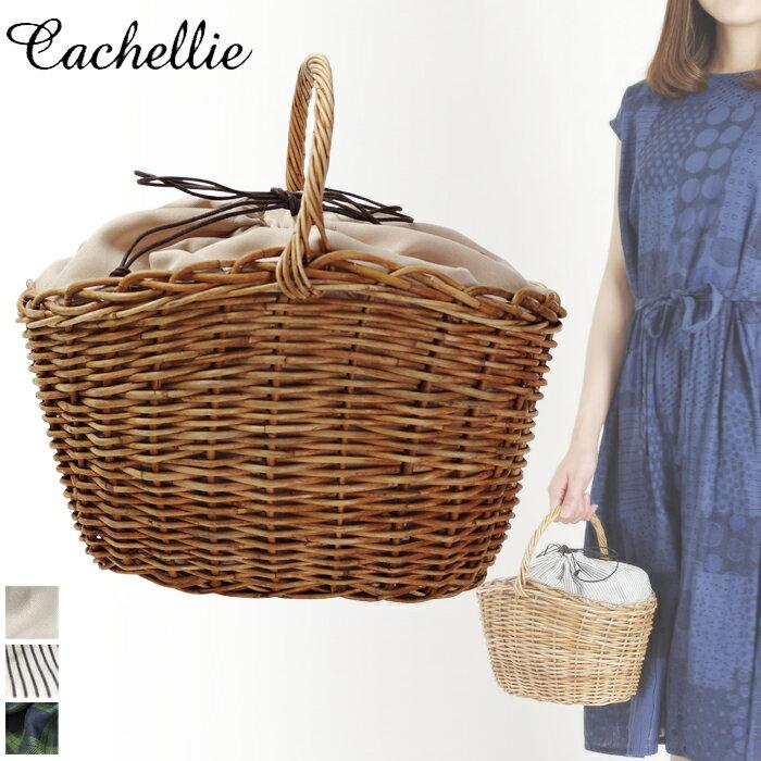 Cachellie/カシェリエ アラログ ワンハンドル かごバッグ トート (ベージュ)