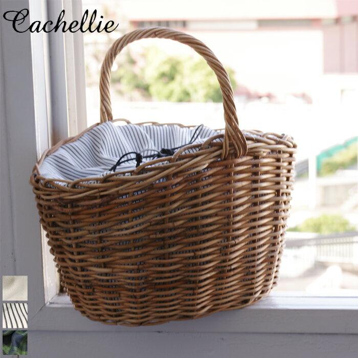 Cachellie/カシェリエ アラログ ワンハンドル かごバッグ トート (ストライプ)