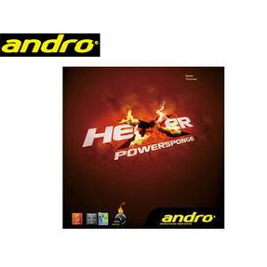 andro/アンドロ 112268 裏ソフトラバー HEXER POWERSPONGE(ヘキサーパワースポンジ) 【1.9】 (ブラック)