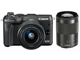 CANON/キヤノン EOS M6(ブラック)・ダブルズームレンズキット 1724C034