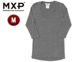 MXP/エムエックスピー MW15342-CH Uネック5分袖シャツ レディース 【M】(チャコールグレー)