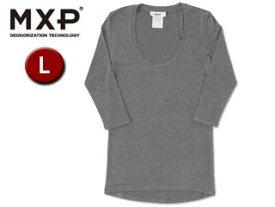 MXP/エムエックスピー MW15342-CH Uネック5分袖シャツ レディース 【L】(チャコールグレー)
