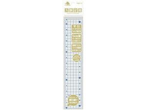 マンモス M方眼定規 15cm ブルー MAH-15-(BU)