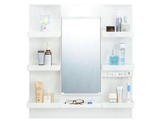 【時間帯指定不可】 LIXIL/リクシル 【時間帯指定不可】【INAX】洗面化粧台用化粧鏡750mm V1 一面鏡 くもり止めコート LED照明 MV1-751YJU
