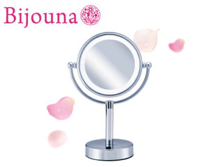 KOIZUMI/コイズミ KBE-3010S [ビジョーナ Bijouna] LEDライト付き 拡大鏡(引き寄せミラー)【卓上タイプ 丸小】