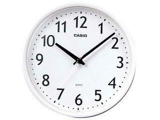 CASIO/カシオ 【納期8月上旬以降】IQ-58-7JF ホワイト 掛け時計 ステップ秒針/シンプル/小型 (IQ587JF )