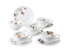 ナルミ ナルミ ルーシーガーデン アソートティー・コーヒー碗皿5客セット/96010−23067P