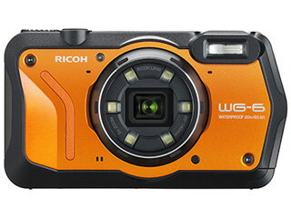 【お得なセットもあります!】 RICOH/リコー WG-6(オレンジ) 防水コンパクトデジタルカメラ