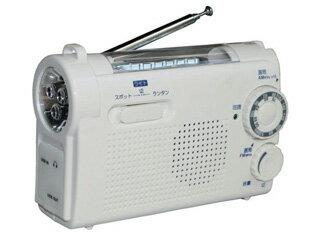 WINTECH/廣華物産 【納期12月中旬以降】KDR-107W(ホワイト) 手回し充電ラジオライト