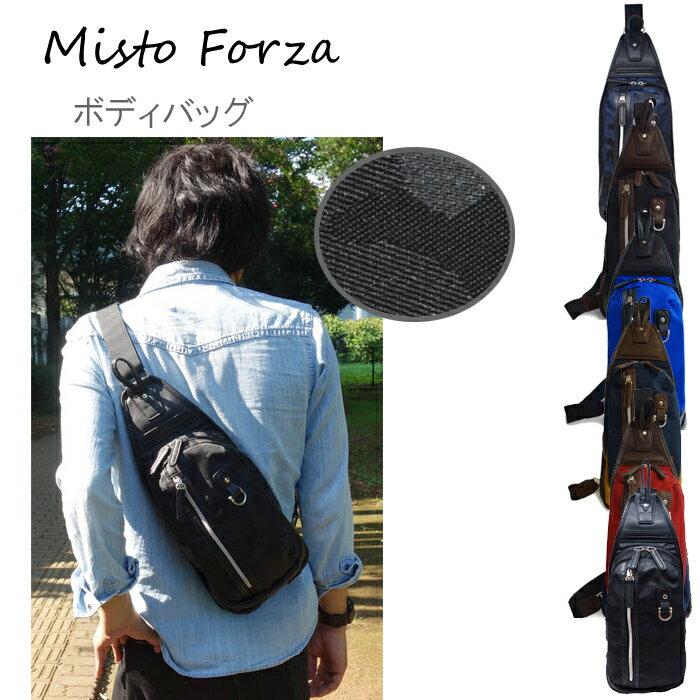 Misto Forza/ミストフォルツァ FMI02 ナイロン×フェイクレザー ボディバッグ (ブラック迷彩/メンズ/レディース) ロワード メンズ カジュアル 大人