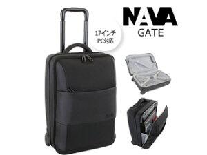 NAVA DESIGN/ナヴァデザイン Gate Trolley PC対応/17インチ 手荷物サイズキャリーケース 【ブラック】 鍵付 バッグ ビジネス 鞄 イタリア