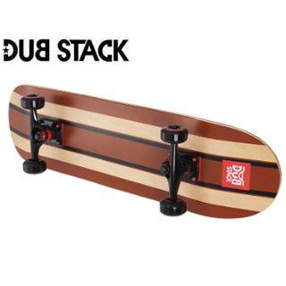 DUB STACK/ダブスタック DSB111-BR コンプリート スケートボード《スターターモデル》 (Brown)