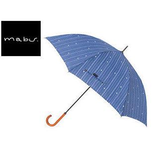 【nightsale】 mabu world/マブワールド MBU-MLJ12 長傘 ジャンプ 日傘/晴雨兼用傘 レジェ ワンタッチスリム 全16色 58cm (キャレネイビー)