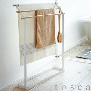【tosca/トスカ】バスタオルハンガーホワイト(3159)