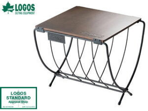 LOGOS/ロゴス アウトドア用 ワイド薪ラック ウッドテーブル 81064183