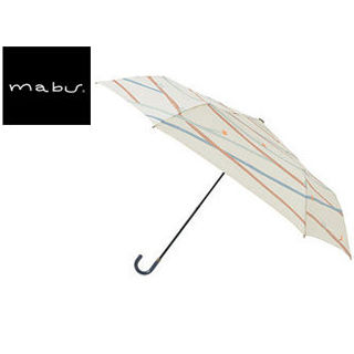 mabu world/マブワールド MBU-MLM05 折りたたみ傘 手開き 日傘/晴雨兼用傘 レジェ フラット 全16色 49.5cm (ツイギークリーム)