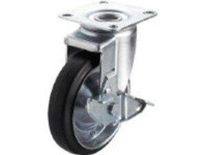 YUEI CASTER/ユーエイ 産業用キャスターS付自在車 150径ゴム車輪 WJ2-150S