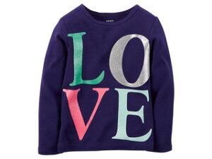 carters/カーターズ 【在庫処分】 12M ロングTシャツ ネイビー LOVE 235G01712
