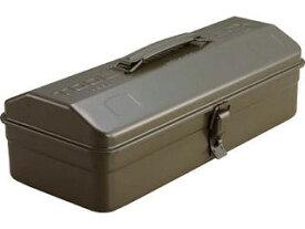 TRUSCO/トラスコ中山 山型工具箱 373X164X124 オリーブドラブ Y-350-OD