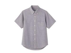 形態安定半袖シャツ(ボタンダウン)M/WF−5724 グレー