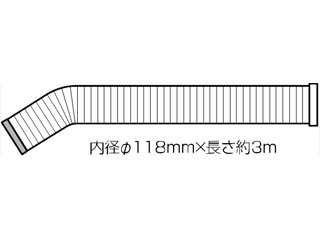 Haier JA-ESP25C スポットエアコン 延長用冷風ダクト(3m)
