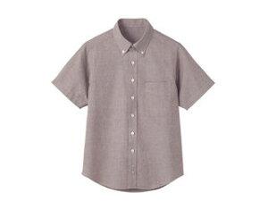 形態安定半袖シャツ(ボタンダウン)L/WF−5723 ベージュ