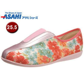ASAHI/アサヒシューズ KS23472 快歩主義 L132RS レディース コンフォートシューズ 【25.5cm・5E】 (オレンジガラ)