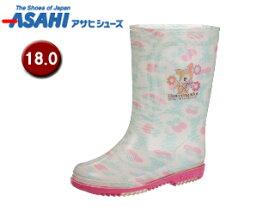 ASAHI/アサヒシューズ KL38403-1 サンリオ R283 レインブーツ 【18.0cm・2E】 (ハミングミント)