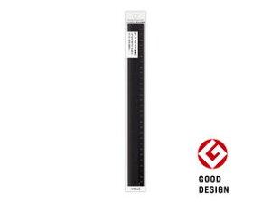 MIDORI/ミドリ アルミ定規 30cm ノンスリップ 黒 42279006