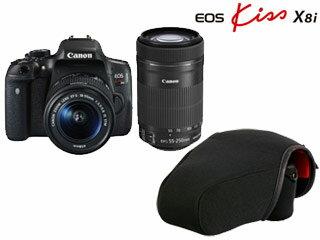 【5月25日頃入荷分】 CANON/キヤノン EOS Kiss X8i(W)・ダブルズームキット+MAMORU M カメラプロテクターセット【x8iset】