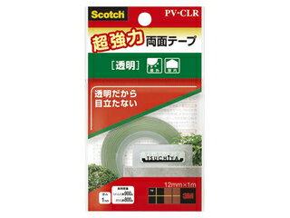 【Scotch/スコッチ】超強力両面テープ透明PV-CLR超強力透明