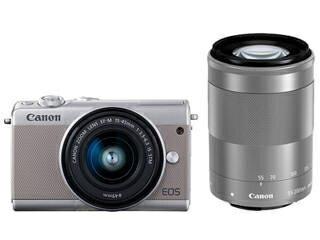 CANON/キヤノン EOS M100(グレー)・ダブルズームキット ミラ−レスカメラ