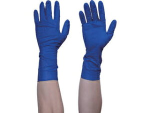 TRUSCO/トラスコ中山 使い捨て天然ゴム手袋TGプロテクト 0.20 粉無青 Sサイズ 50枚 TGNL20BS