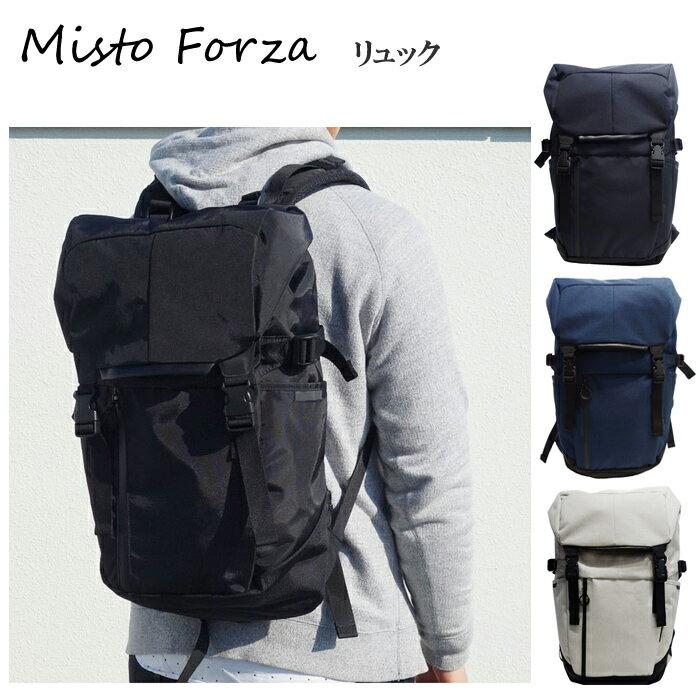 Misto Forza/ミストフォルツァ FMS02 メンズ Robic生地 スポーティタウンユースバックパック リュック (ブラック) ロワード