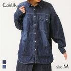 デニムオーバーシャツ(R5=濃色USED/サイズM)