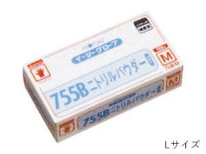 【納期未定】オカモト手袋 ニトリルパウダーブルー 755B L 100枚入