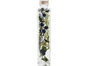 flower xmasgift GREENPARK ハーバリウム/ナチュラル クリアボックス付 ブルー PRGR1021B