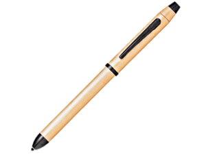 CROSS / クロス 複合ペン テックスリー 【 ブラッシュトローズゴールド NAT0090-20ST】 黒赤&0.5mmペンシル