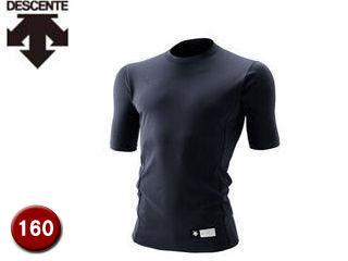 JSTD700-DNVYジュニア丸首半袖リラックスFITシャツ【130】(ブラック)