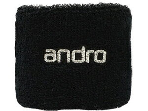 andro/アンドロ 卓球アクセサリー WRISTBAND ANDRO (リストバンド アンドロ ) ブラック×シルバー