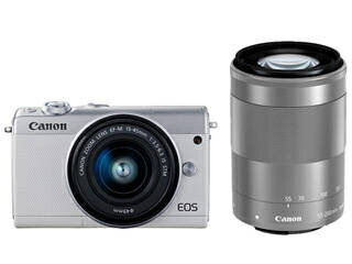CANON/キヤノン EOS M100(ホワイト)・ダブルズームキット ミラ−レスカメラ 2210C024