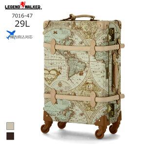 World Trunk/ワールドトランク 7016-47 地図柄トランクケース ルネサンス(30L/地図柄ヌメ) T&S(ティーアンドエス) 旅行 スーツケース キャリー 機内持ち込み 小さい 国内 Sサイズ おしゃれ かわいい
