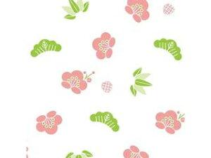 シーズン 和風デザインWAXペーパー(100枚入)ハンディ 松竹梅 PG-695