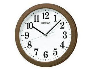 KX379B電波掛時計スイープセコンド/おやすみ秒針/大文字