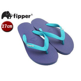 fipper/フィッパー FJ02-SK23 ビーチサンダル スリップ防止タイプ 天然ゴム製 【27cm(UK08)】 (パープル/ターコイズ)