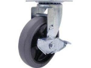YUEI/ユーエイキャスター 産業用キャスターS付自在車 150径ゴム車輪/RJ2-150NWRS-G