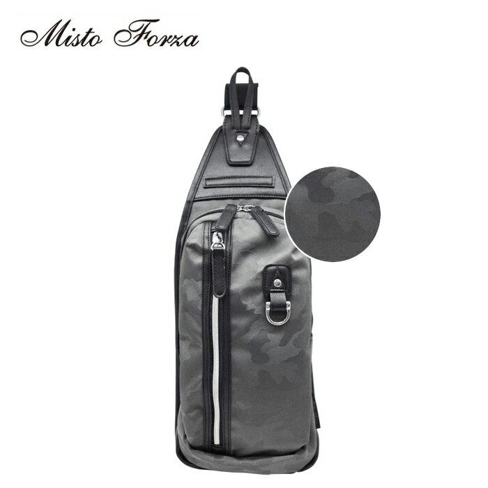 Misto Forza/ミストフォルツァ FMI02 ナイロン×フェイクレザー ボディバッグ (グレー迷彩/メンズ/レディース)