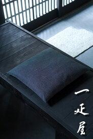 鮫小紋 (黒) 座布団カバー 43×47cm ※茶席判
