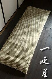 矢絣 ( 抹茶 ) ごろ寝座布団 ( 長座布団 ) カバー 65×185cm