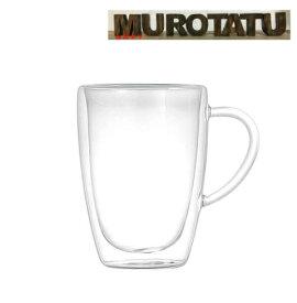【送料無料】 ダブル ウォール グラス マグ 350ml ガラス 耐熱ガラス 保温 保冷